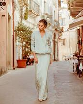 dress,maxi dress,wrap dress,long sleeve dress,sandals,silk dress