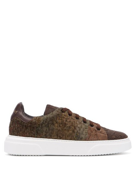 By Walid - 19th Century Panelled Low Top Trainers - Womens - Multi