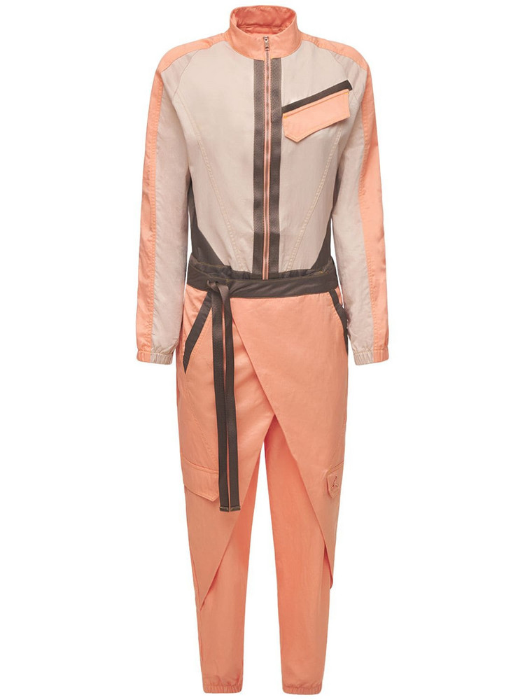 NIKE Jordan Future Primal Utility Jumpsuit in khaki / pink