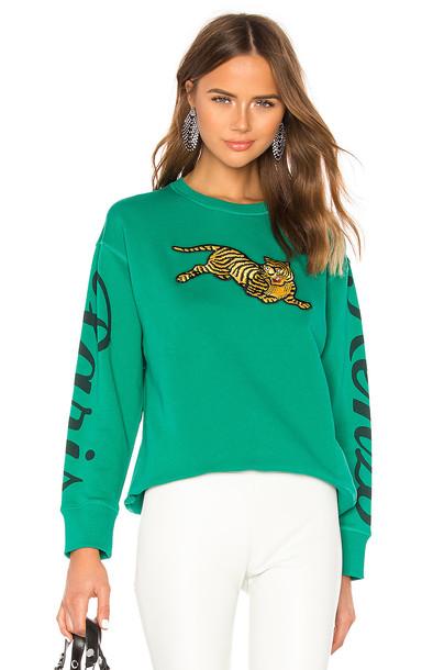 Kenzo Jumping Tiger Relax Sweatshirt in green