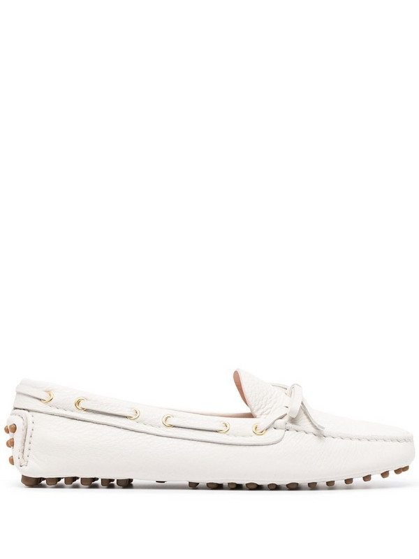 Car Shoe classic driving shoes in white