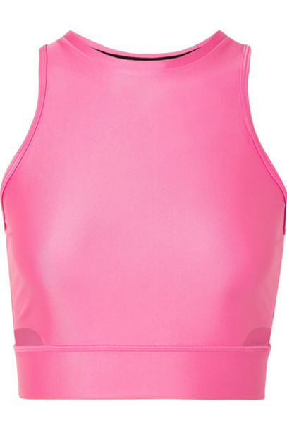 Nike - Tech Pack 2.0 Cropped Cutout Stretch Top - Pink
