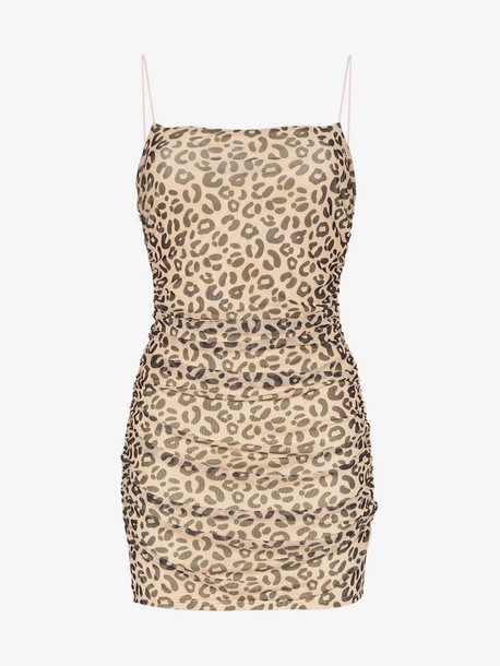 Sandy Liang Lily leopard print fitted mini dress