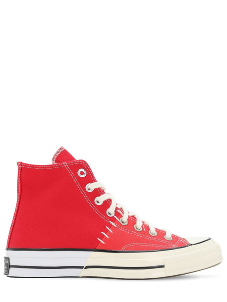 CONVERSE Chuck 70 Reconstructed High Top Sneakers in red