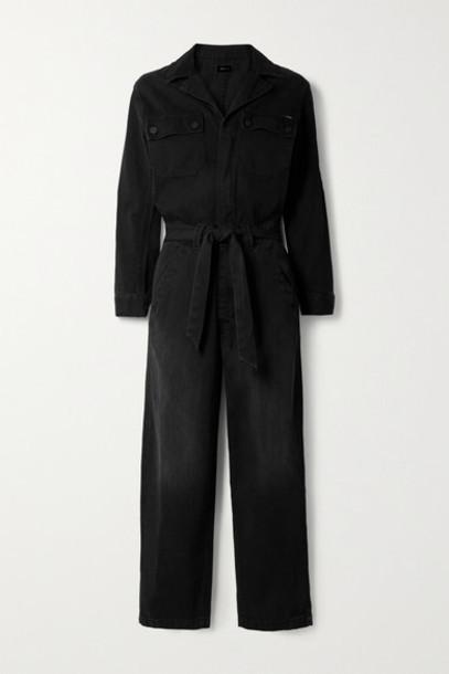 Mother - The Belted Fixer Denim Jumpsuit - Black