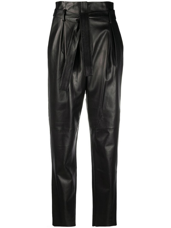 Drome paperbag-waist tapered trousers in black