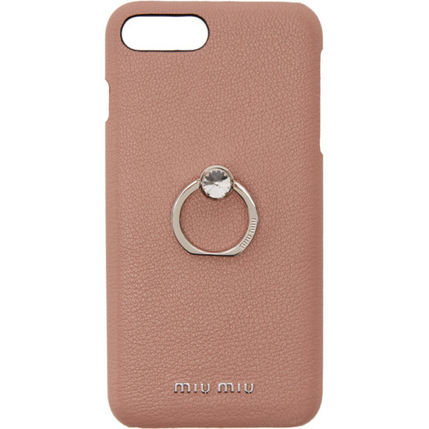 Miu Miu Pink Madras Ring iPhone 8 Plus Case