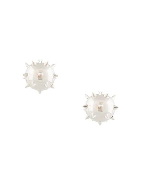 E.M. studded ball earrings in silver