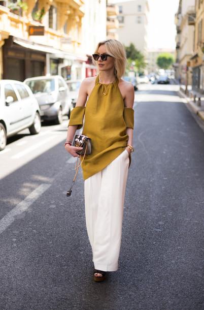 lisa rvd blogger dress pants shoes bag sunglasses