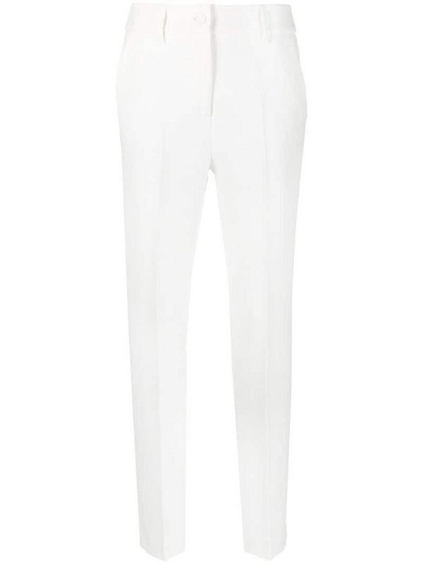 Blumarine slim-cut tailored trousers in white