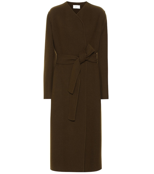 The Row Terin wool and cashmere-blend coat in green