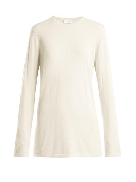 Raey - Longline Fine Knit Cashmere Sweater - Womens - Ivory