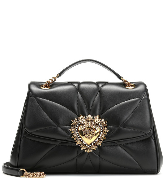 Dolce & Gabbana Devotion Medium shoulder bag in black