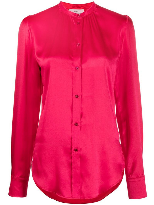 Forte Forte band-collar satin shirt in pink