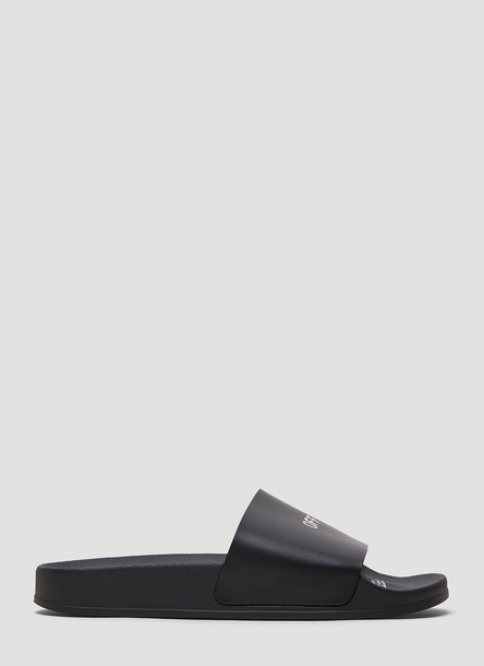 Off-White Logo Print Slides in Black size EU - 37