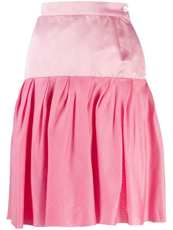 Emanuel Ungaro Pre-Owned 1980's pleated skirt in pink