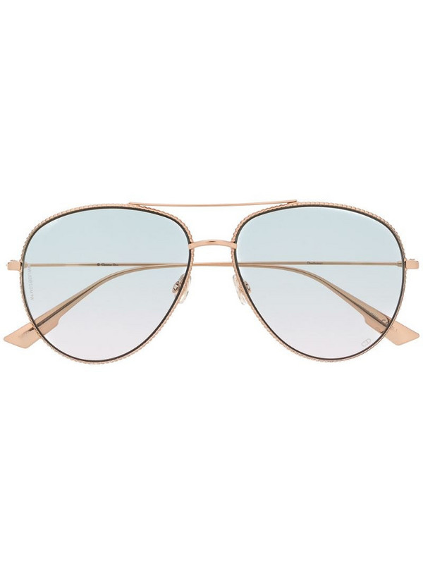 Dior Eyewear DiorSociety3 aviator sunglasses in gold