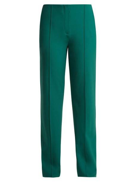 Diane Von Furstenberg - Stretch Wool Trousers - Womens - Green