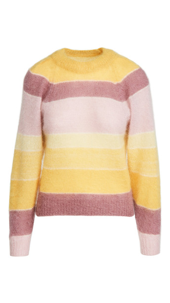 Isabel Marant Etoile Daniel Mohair Pullover in yellow