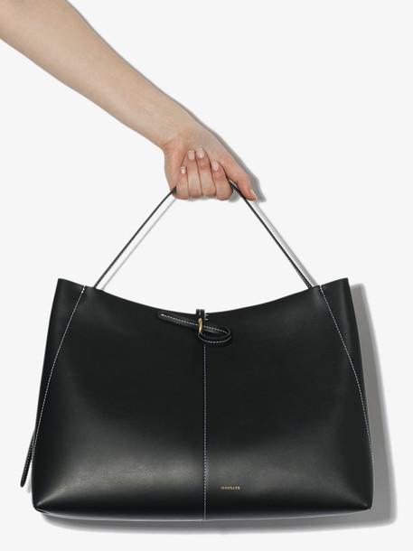 Wandler black Ava leather tote bag