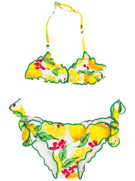 MC2 Saint Barth Lemon Print Lycra Bikini Swimwear