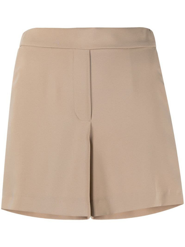 P.A.R.O.S.H. high-waist pull-on shorts in brown