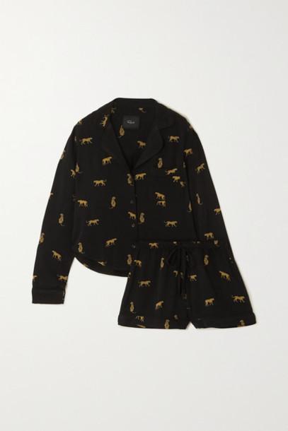 Rails - Kellen Printed Twill Pajama Set - Black