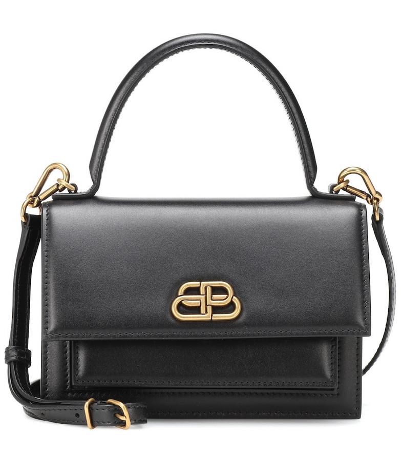 Balenciaga Sharp XS leather shoulder bag in black