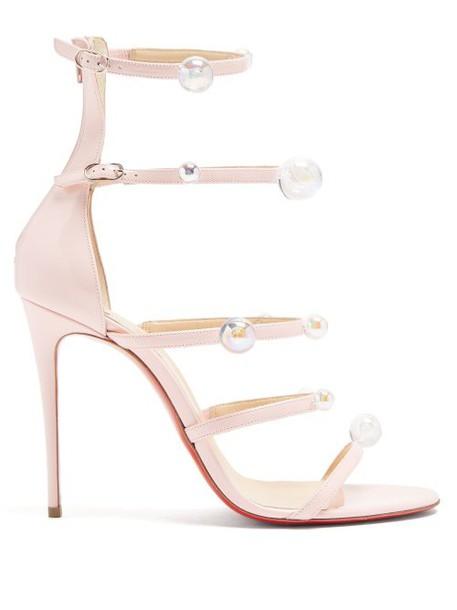 Christian Louboutin - Antonana 100 Patent Leather Sandals - Womens - Pink Multi