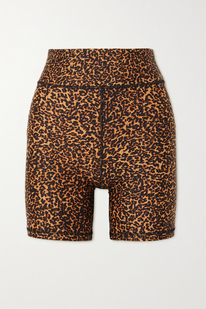 THE UPSIDE - Animal-print Stretch Shorts - Brown