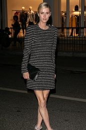 dress,stripes,striped dress,celebrity,nicky hilton