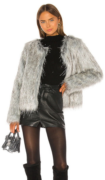 Unreal Fur Fire and Ice Jacket in Gray