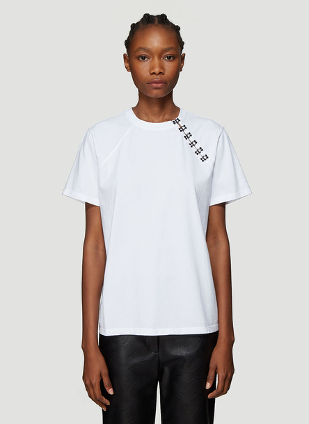 Olivier Theyskens Hook-And-Eye T-Shirt in White size M