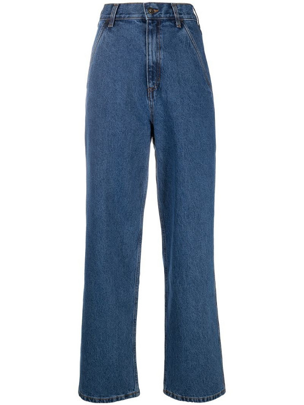 12 STOREEZ high-waisted wide-leg jeans in blue