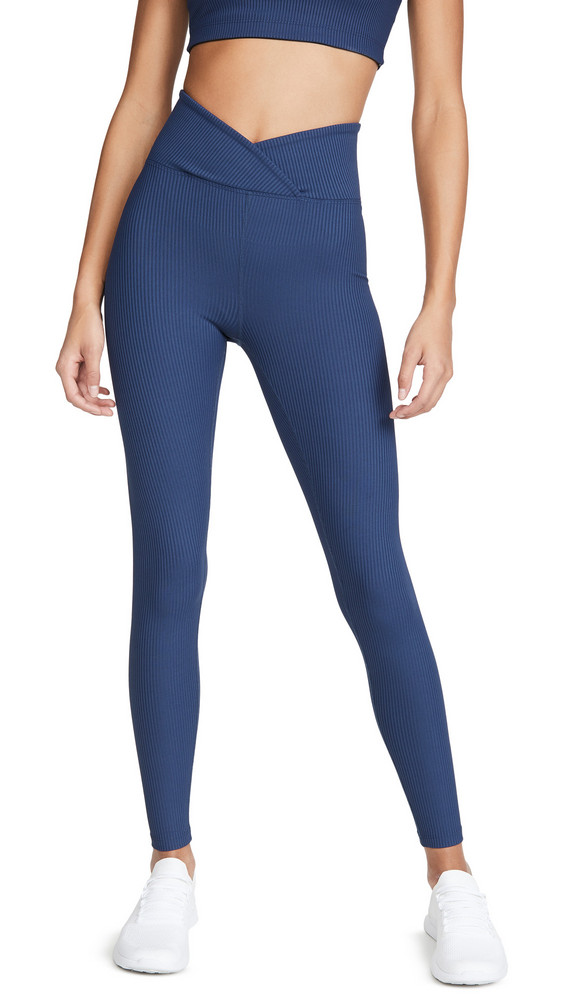 Year of Ours Veronica Ribbed Leggings in navy