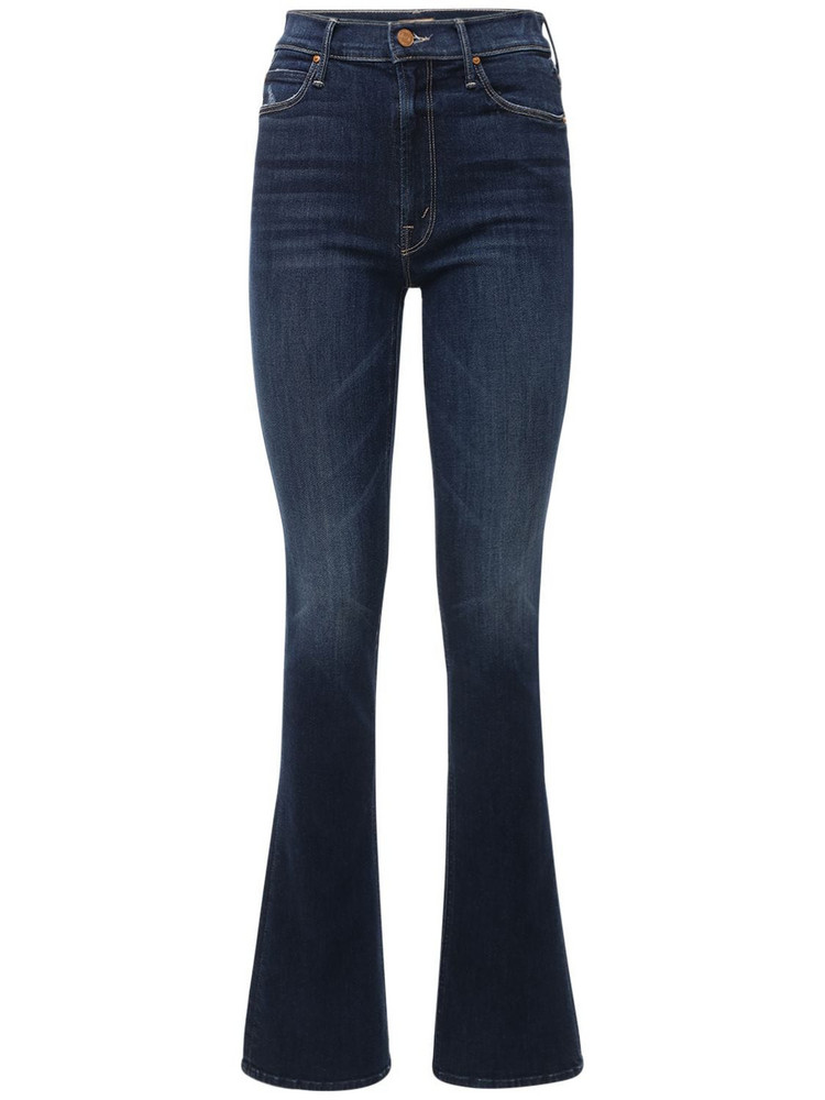 MOTHER The Runaway Skinny Flared Jeans in blue