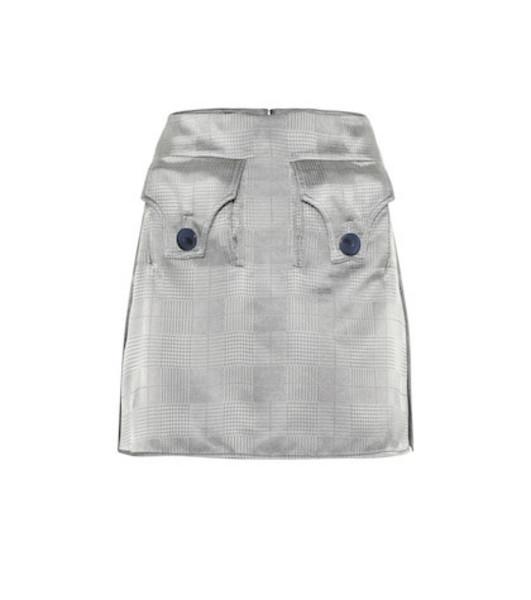 Ellery Nothing Matters gabardine miniskirt in grey
