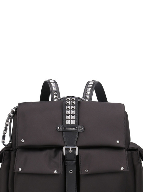 Michael Kors Olivia Nylon Backpack With Leather Details in black
