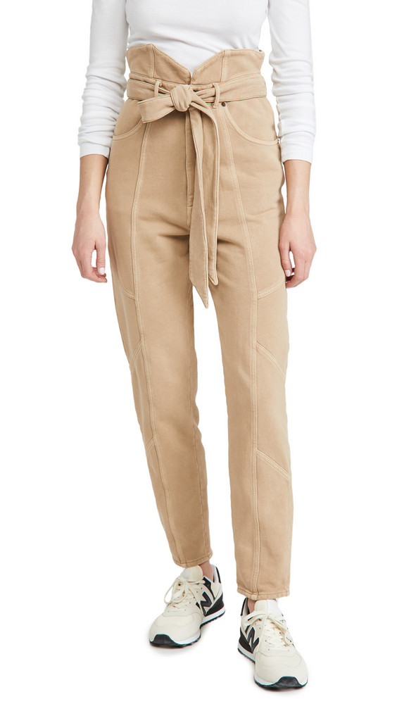 Retrofete Washed Terry Pants in beige