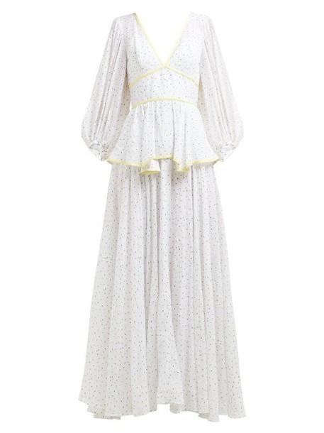 Staud - Panarea Floral Print Maxi Dress - Womens - White Multi