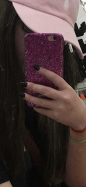 phone cover,pink,glitter,sparkle