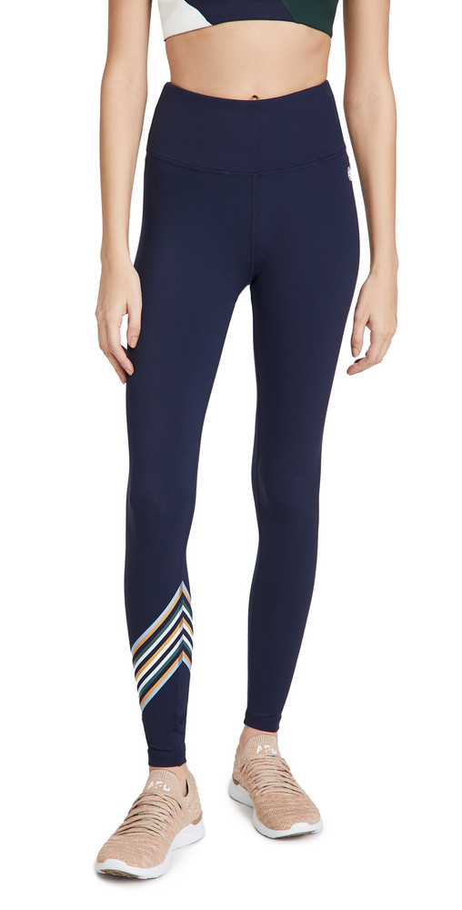 Tory Sport High Rise Weightless Spectrum Leggings in navy