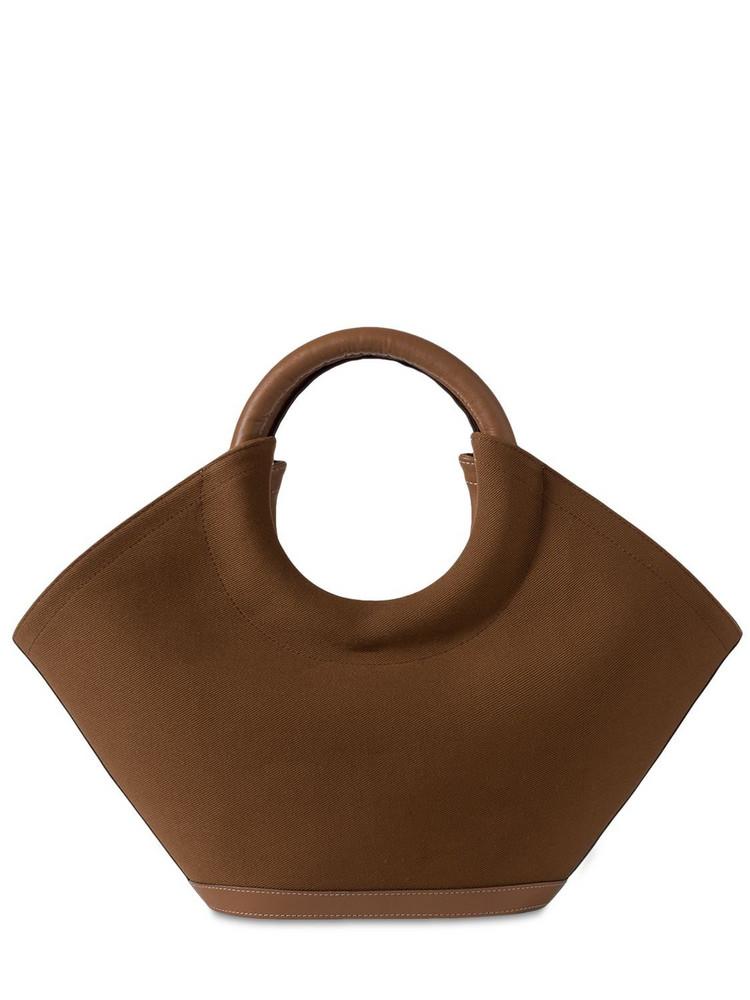 HEREU Cabassa Canvas Top Handle Bag & Pouch in tan