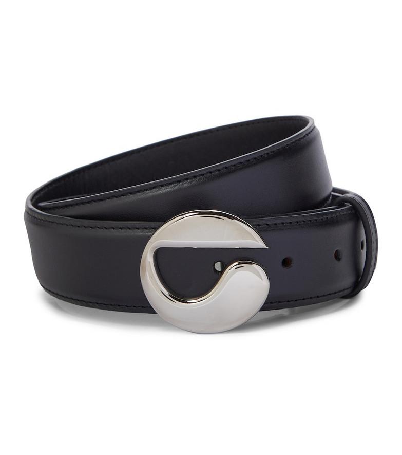 Coperni Logo leather belt in black