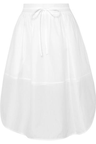 Vince - Cotton-poplin Skirt - White
