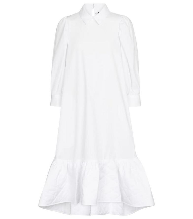 Noir Kei Ninomiya Cotton poplin midi dress in white