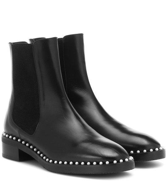 Stuart Weitzman Cline leather ankle boots in black
