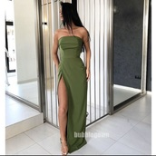 dress,prom dress,green dress,green,formal dress,evening dress,ball gown dress,long prom dress,long dress