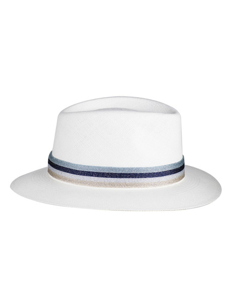 Maison Michel Andre Fedora Hat in white