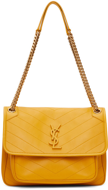 Saint Laurent Yellow Medium Niki Bag